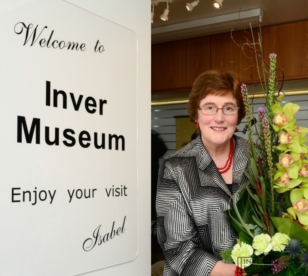 Isabel at the grand opening of the Inver Museum
